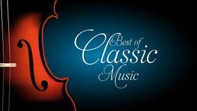 Meglio dell'insegna cllassic del violino di musica royalty illustrazione gratis