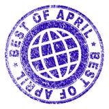 MEGLIO strutturato di lerciume di APRIL Stamp Seal Immagine Stock Libera da Diritti