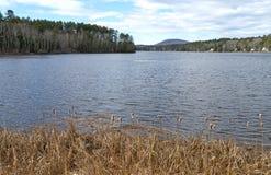 Megunticookmeer in Lincolnville-Centrum Maine Stock Foto