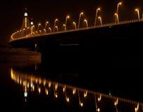Megyeri Bridge in Budapest Stock Images