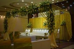 Mehandi Ceremony. Pakistani mehandi ceremony in Pakistani Culture. Marriage and wedding traditions Stock Photo