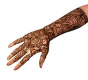 Mehandi Design. Popular Mehndi Designs for Hands or Hands painted with Mehandi Royalty Free Stock Image