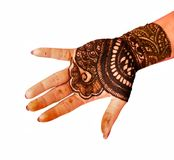 Mehandi Design. Popular Mehndi Designs for Hands or Hands painted with Mehandi Stock Photography