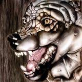 mehanical wolf Arkivfoton