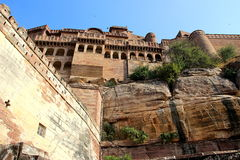 Meharongarh Fort on Rocky Hill Royalty Free Stock Photography