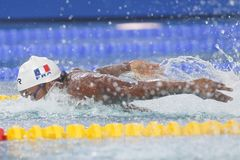 Mehdy metella Coupe Du Monde Pływanie àChartres Zdjęcie Royalty Free
