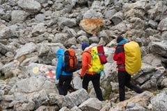 Trekking in Mehedinti Mountains in autumn royalty free stock image