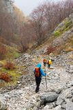Trekking in Mehedinti Mountains in autumn stock photos
