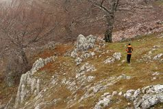 Trekking in Mehedinti Mountains in autumn stock photos
