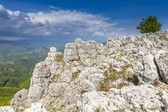 Mehedinti Mountains. Beautifull panorama in Mehedinti Mountains Stock Photo