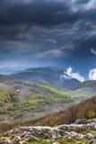 Mehedinti Mountains. Beautifull panorama in Mehedinti Mountains Stock Photos