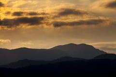Mehedinti Mountains. Beautifull sunset in Mehedinti Mountains Royalty Free Stock Photos
