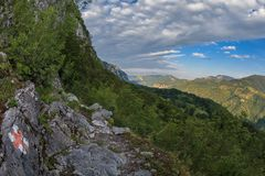 The Mehedinti Mountains Royalty Free Stock Photography