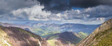 Mehedinti Mountains. Panoramic view of Mehedinti Mountains Royalty Free Stock Photography