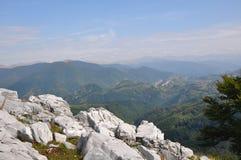 The Mehedinti Mountains, Romania. Cerna Mountains near Hercules Baths, Carpathians, Romania Royalty Free Stock Photos