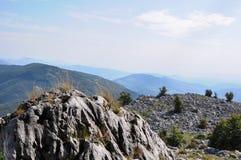 The Mehedinti Mountains, Romania. Cerna Mountains near Hercules Baths, Carpathians, Romania Stock Photo