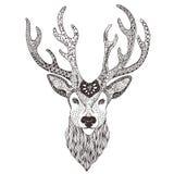 Mehendi татуировки головы оленей Стоковая Фотография RF