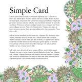 Mehendi card tracery handmade, natural mood Royalty Free Stock Images