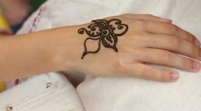 Mehendi, corps de henné images libres de droits