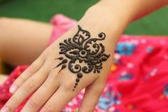 Mehendi, corps de henné photo stock