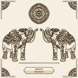 Mehendi d'éléphant Image libre de droits