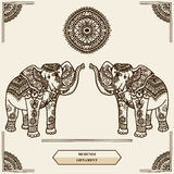 Mehendi dell'elefante illustrazione di stock
