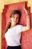 Mehendi on the hand of pretty girl Stock Image