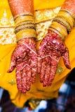 Mehendi on hands royalty free stock image