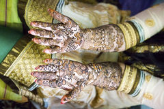 Bridal Mehendi or Henna or Hina Stock Photos