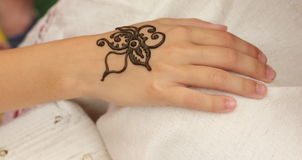 Mehendi, henna body Royalty Free Stock Photo