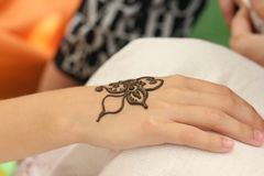 Mehendi, henna body Stock Images