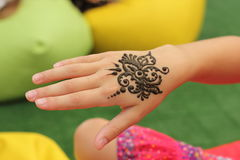 Mehendi, henna body Stock Photos