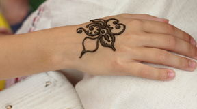 Mehendi, henna body Royalty Free Stock Images