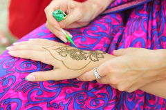 Mehendi: Henna body painting Royalty Free Stock Photos