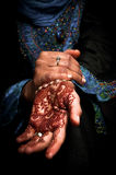 Mehendi, henna on bride's hand - Color 02. Traditional art form in many Indian ans Arab countries Royalty Free Stock Images