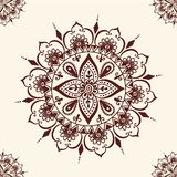 Mehendi pattern illustration. Floral seamless mehendi pattern ornament. illustration mehendi pattern in asian textile style india tribal ornate. Ethnic Stock Image