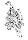 Mehendi pen drawing Royalty Free Stock Photo