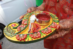 Mehendi Ritual Items Stock Images