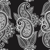 Mehendi seamless background Royalty Free Stock Photo
