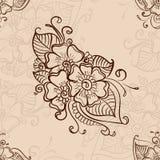 Mehendi seamless background Stock Image