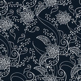 Mehendi seamless flower pattern. For your project Stock Images