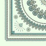 Mehendi tracery hindi drawing, carpet corner Royalty Free Stock Photo