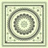 Mehendi tracery hindi drawing pattern, carpet Royalty Free Stock Photo