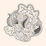 Mehendi tracery  hindi handmade drawing Royalty Free Stock Photos