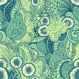 Mehendi tracery pattern, Seamless, handmade Stock Photography