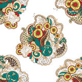 Mehendi tracery pattern, Seamless, handmade hindi Royalty Free Stock Photo