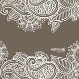 Mehendi-Zusammenfassungshintergrund Stockbilder