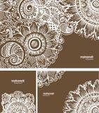 Mehendi-Zusammenfassungshintergrund Stockbild