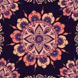 Mehendy mandala flower vector royalty free illustration
