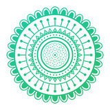Mehendy mandala flower vector illustration Royalty Free Stock Images